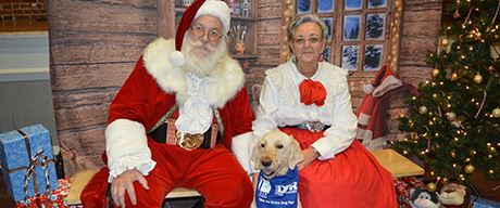 Santa Claus with Two Dogs